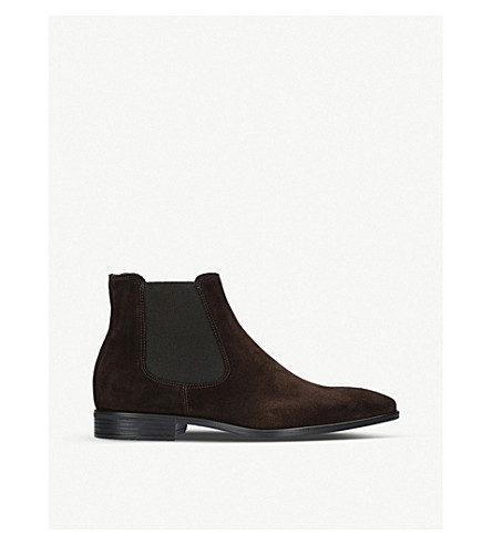 KURT GEIGER LONDON Frederick suede Chelsea boots (Brown