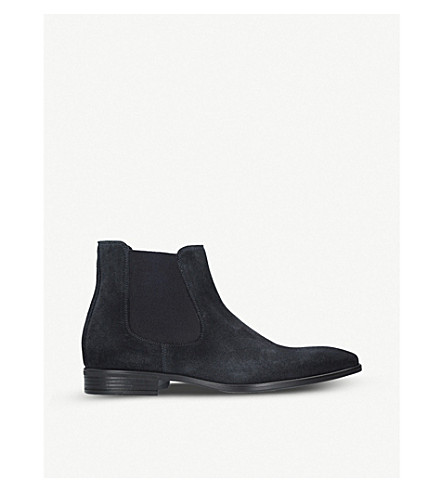 KURT GEIGER LONDON Frederick suede Chelsea boots (Navy