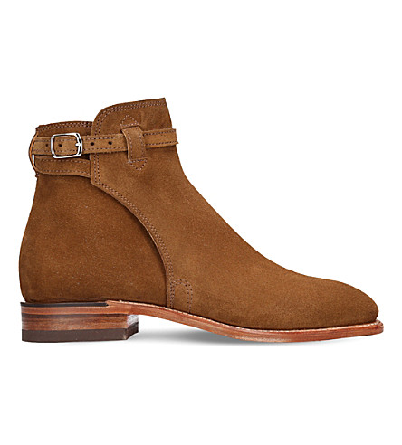R M WILLIAMS Stockmans suede buckle boot (Tan