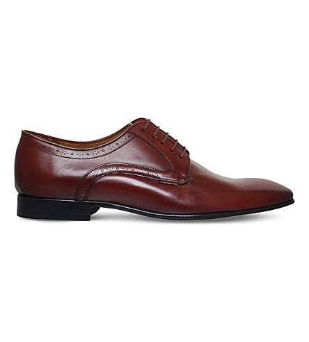PAUL SMITH Roth leather Derby shoes (Tan