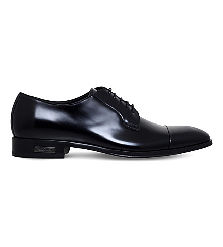PAUL SMITH Spencer leather derby shoes (Black