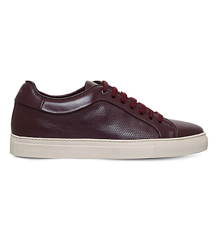 PAUL SMITH Basso leather trainers (Wine