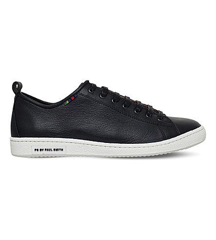 PAUL SMITH Miyata leather trainers (Black
