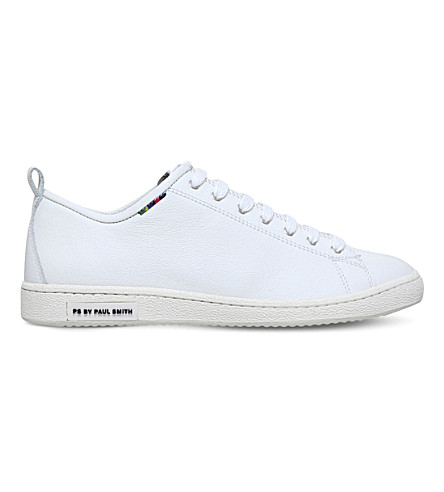 PAUL SMITH Miyata leather trainers (White