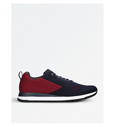 PAUL SMITH Rapid two-tone woven trainers (Blue+other