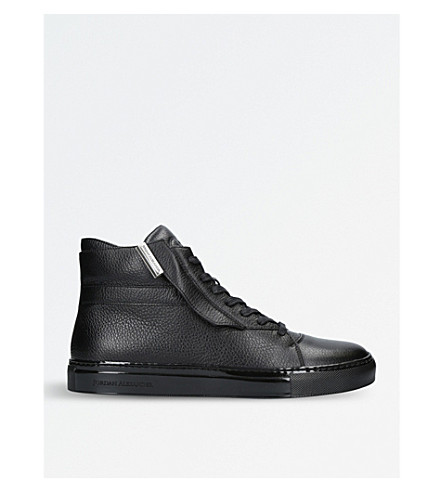 JAD Corsa leather high-top trainers (Black