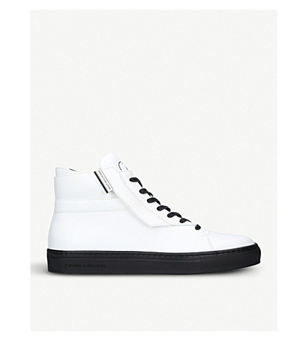 JAD Corsa leather high-top trainers (White/blk