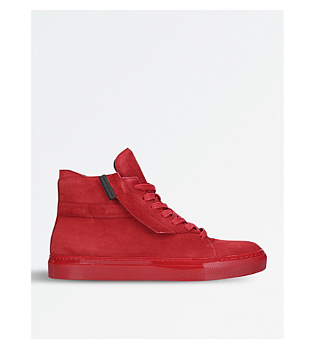 JAD Corsa D11 suede high-top trainers (Red