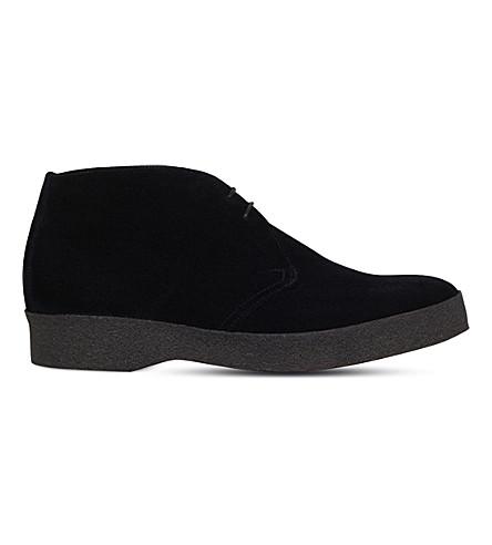 SANDERS Suede chukka boots (Black