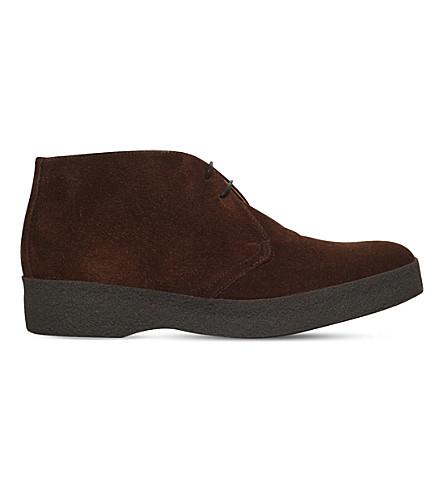 SANDERS Suede chukka boots (Tan