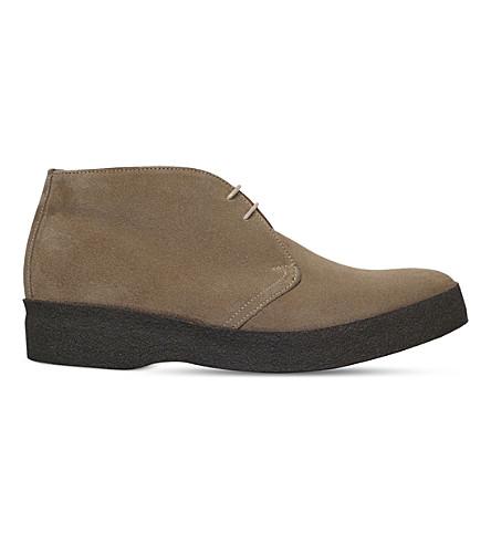 SANDERS Suede chukka boots (Beige