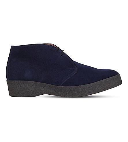 SANDERS Suede chukka boots (Navy