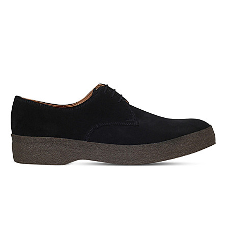 SANDERS Gibson suede low-top chukka boots (Black