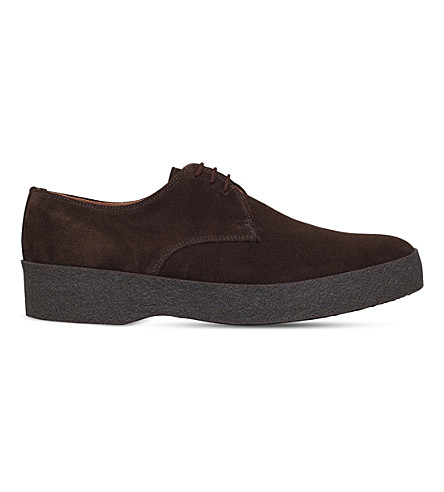 SANDERS Gibson suede low-top chukka boots (Brown