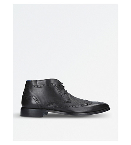 KURT GEIGER LONDON Cedric leather brogue boots (Black