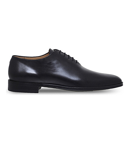 BROTINI Wholecut leather oxford shoes (Black