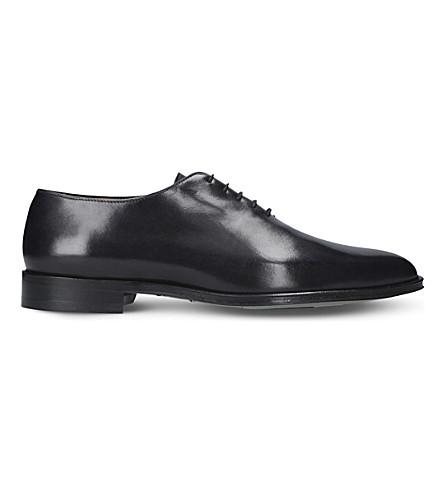BROTINI Wholecut leather oxford shoes (Grey