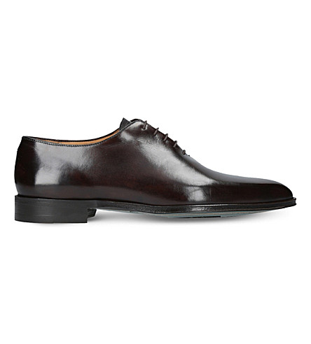 BROTINI Wholecut leather oxford shoes (Dark+brown