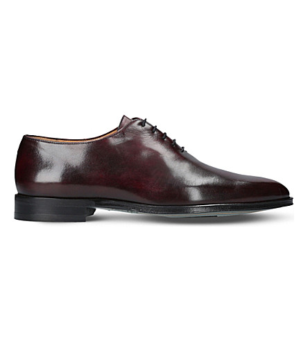BROTINI Wholecut leather oxford shoes (Wine