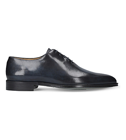 BROTINI Wholecut leather oxford shoes (Navy