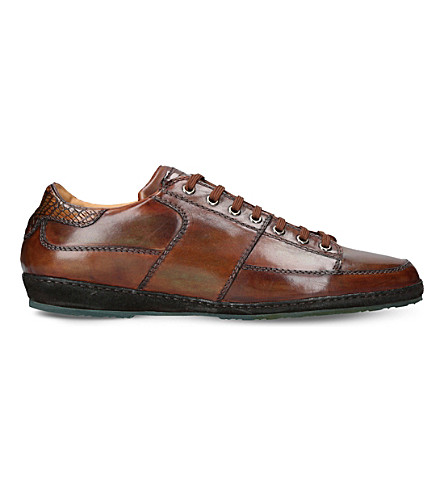 BROTINI Low-top leather sneakers (Brown