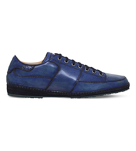 BROTINI Low-top leather trainers (Navy