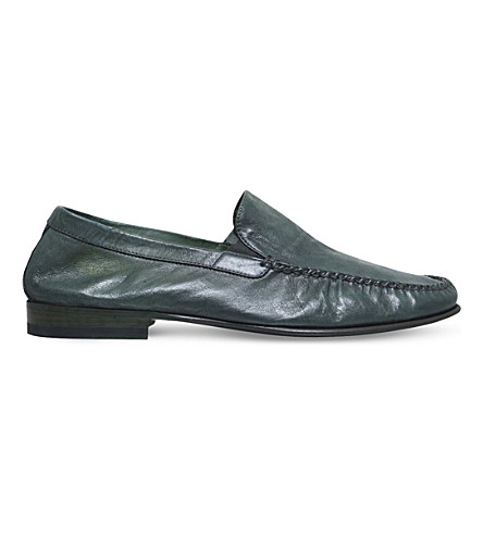 BROTINI Leather loafers (Green