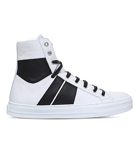 AMIRI Sunset leather high-top trainers (White/blk