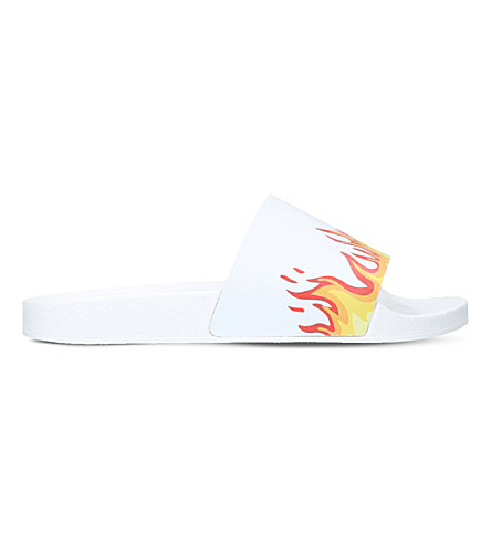 KURT GEIGER LONDON Flame pool sliders (White
