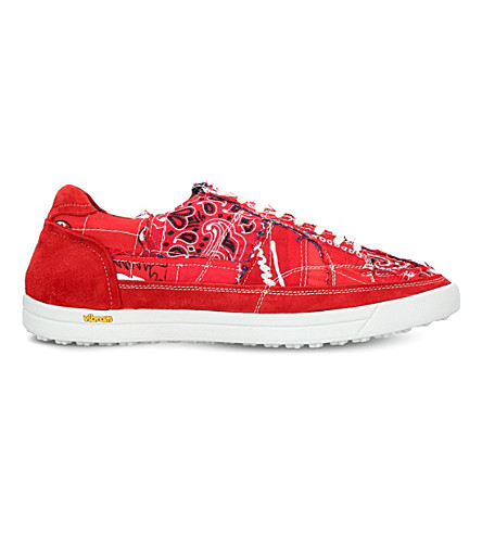 MYTHOGRAPHY Bandana suede trainers (Red