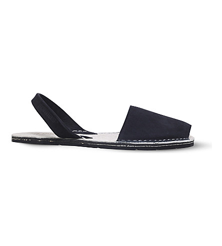 SOLILLAS Originals suede sandals (Black