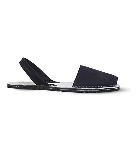 SOLILLAS Originals suede sandals (Black