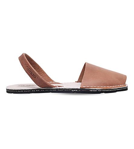 SOLILLAS Originals leather sandals (Tan