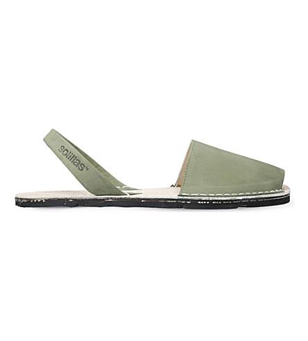 SOLILLAS Originals suede sandals (Khaki