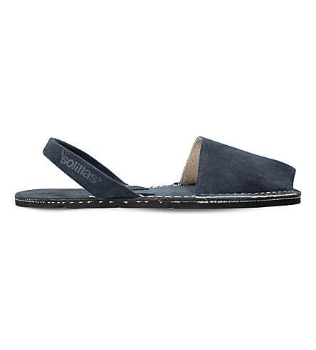 SOLILLAS Originals suede sandals (Navy