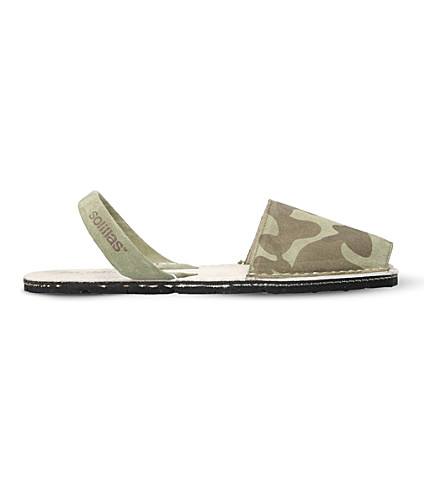 SOLILLAS Originals camouflage suede sandals (Khaki