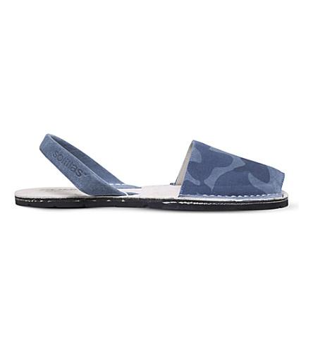SOLILLAS Originals camouflage suede sandals (Navy