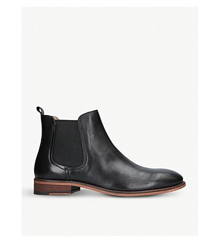 KURT GEIGER LONDON 贝内特皮革切尔西靴 (黑色