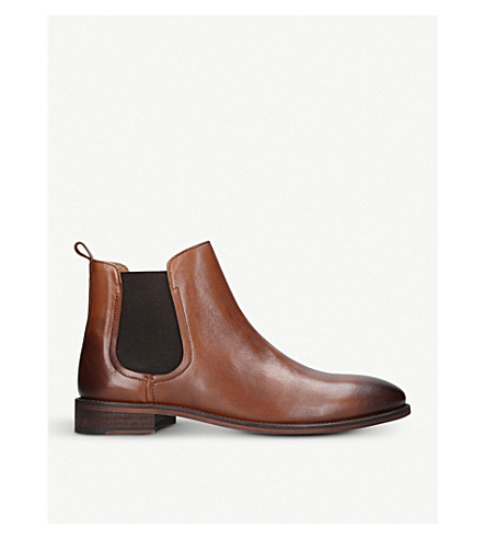 KURT GEIGER LONDON Bennett leather Chelsea boots (Tan