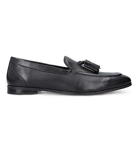 KURT GEIGER LONDON Moleman tasselled leather loafers (Black