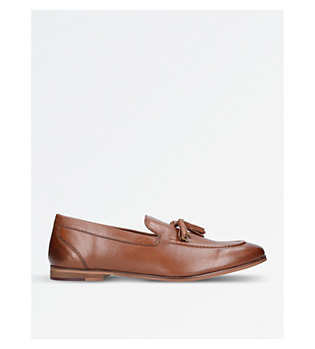 KURT GEIGER LONDON Moleman tasselled leather loafers (Tan