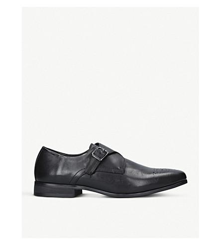 KURT GEIGER LONDON Cozy leather monk shoes (Black