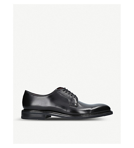 LOAKE Ghost leather Derby shoes (Black