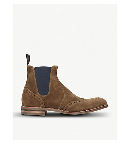 LOAKE Hoskins suede Chelsea boots (Tan