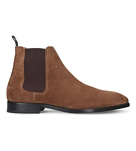 PAUL SMITH Gerald suede Chelsea boots (Tan