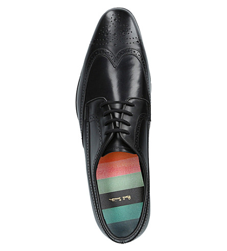 PAUL SMITH Watson Leather Derby Shoes in Black