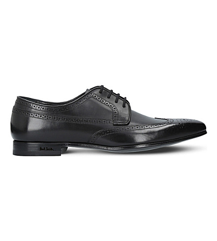 PAUL SMITH Watson leather Derby shoes (Black