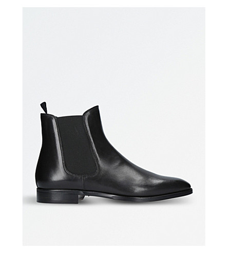 RALPH LAUREN PURPLE LABEL Barnham leather chelsea boots (Black