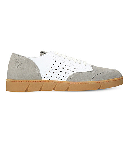 LOEWE Gum suede trainers (White/comb