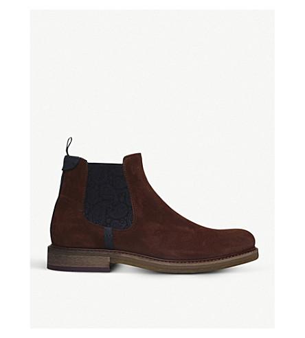 TED BAKER Bronzo 绉绒面革切尔西靴 (谭